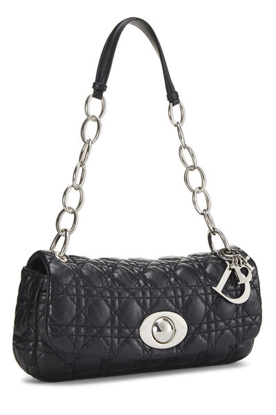 Black Cannage Quilted Lambskin Rendezvous Small, , large