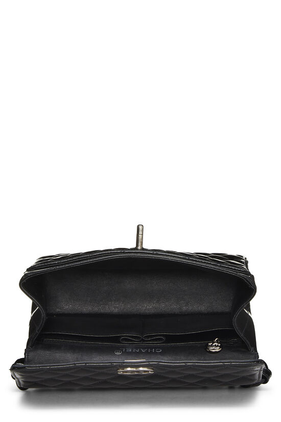 Black Quilted Patent Leather Handbag Small, , large image number 5
