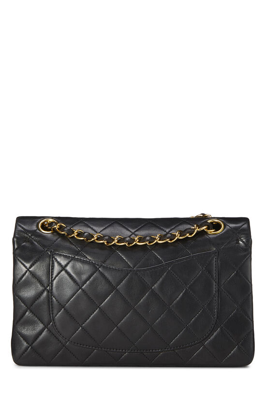 Black Quilted Lambskin Classic Double Flap Small, , large image number 3