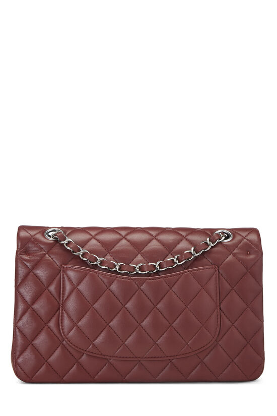 Burgundy Quilted Lambskin Classic Double Flap Medium, , large image number 3