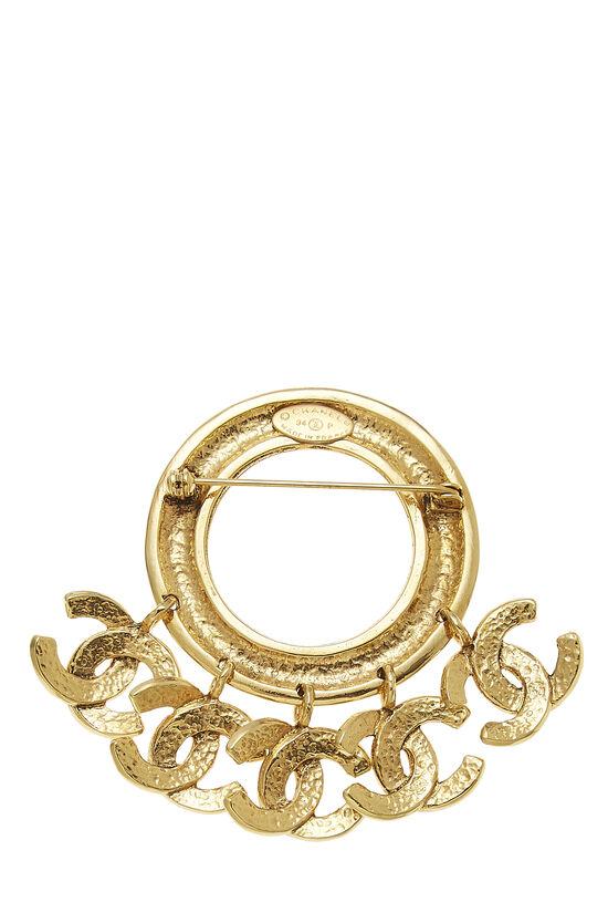 Gold 5 'CC' Dangle Pin, , large image number 1