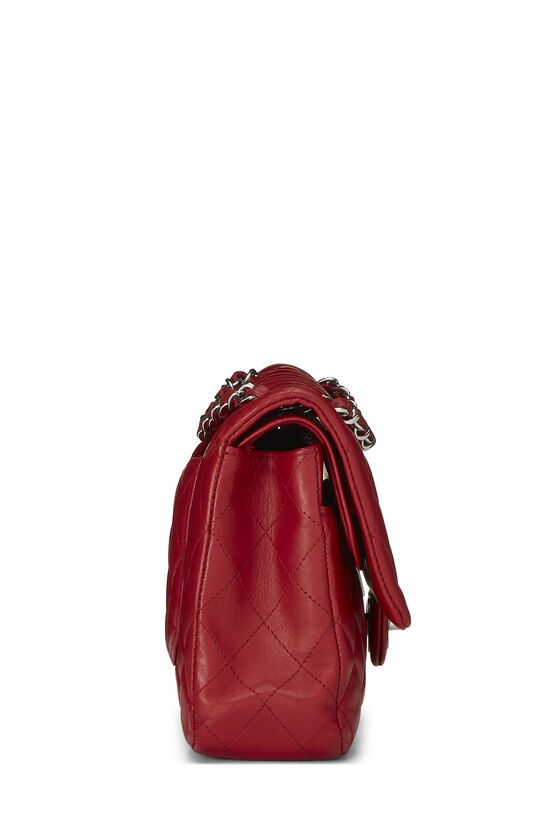 Red Quilted Lambskin Classic Double Flap Small, , large image number 2