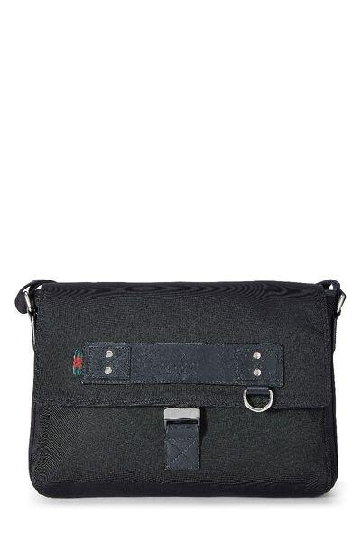 Black Canvas Techno Messenger Bag