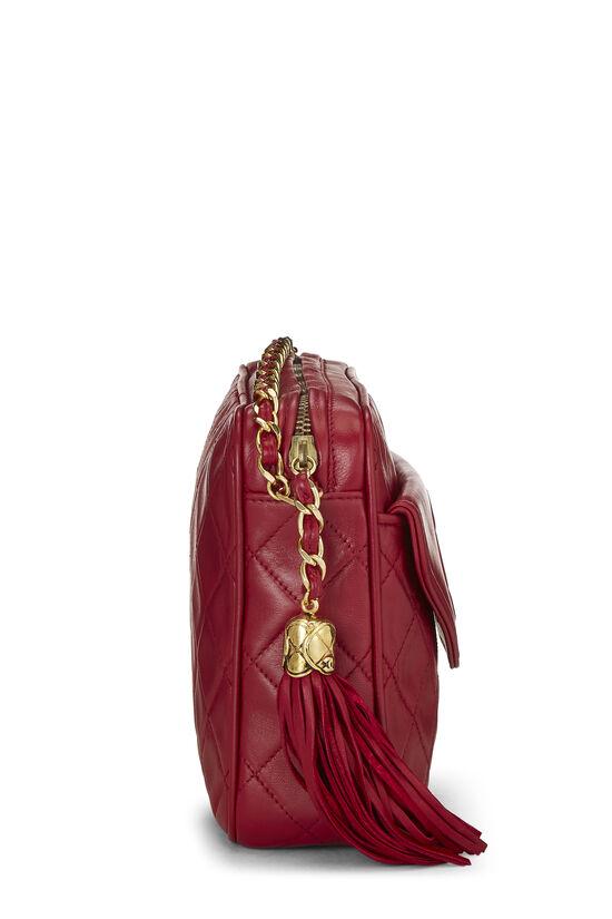 Red Lambskin Pocket Camera Bag Medium, , large image number 2