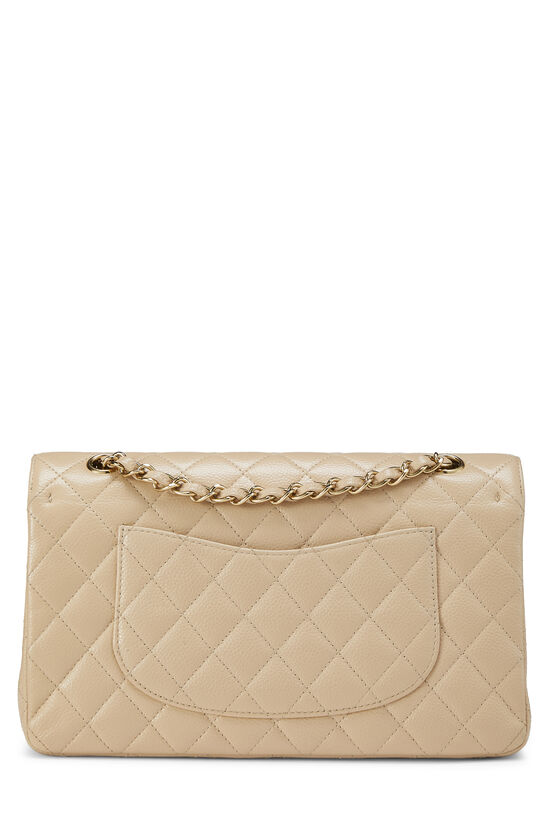 Beige Quilted Caviar Classic Double Flap Medium, , large image number 3