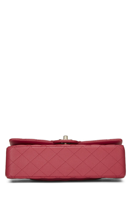 Pink Quilted Caviar Classic Double Flap Medium, , large image number 4