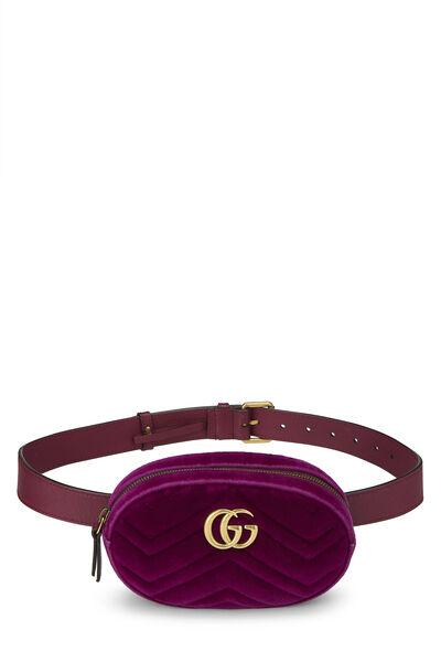 Purple Velvet Marmont Belt Bag Mini