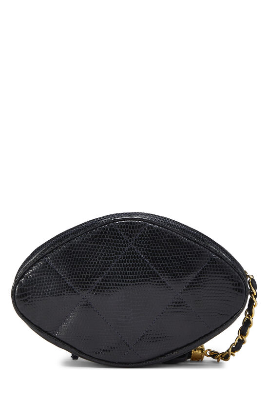 Navy Lizard Oval Clutch, , large image number 3