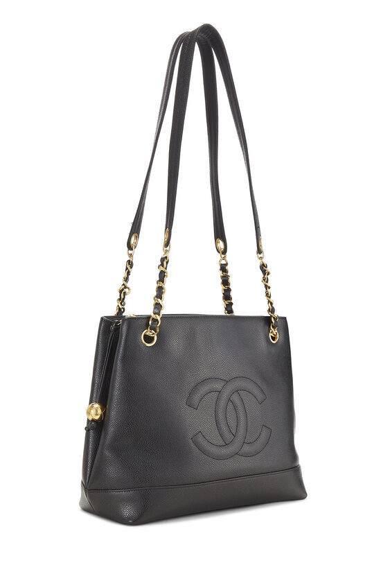 Black Caviar 'CC' Tote Small, , large image number 1