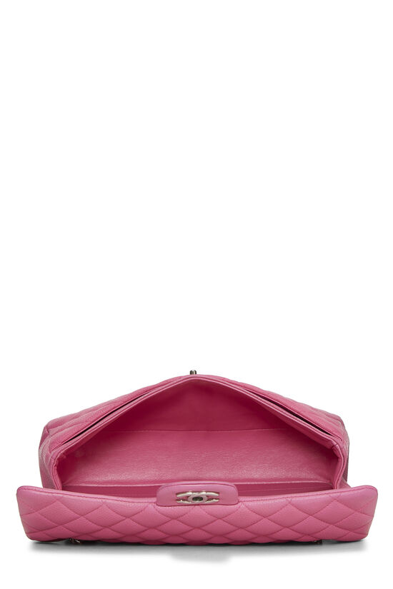 Pink Quilted Caviar Classic Double Flap Medium, , large image number 5