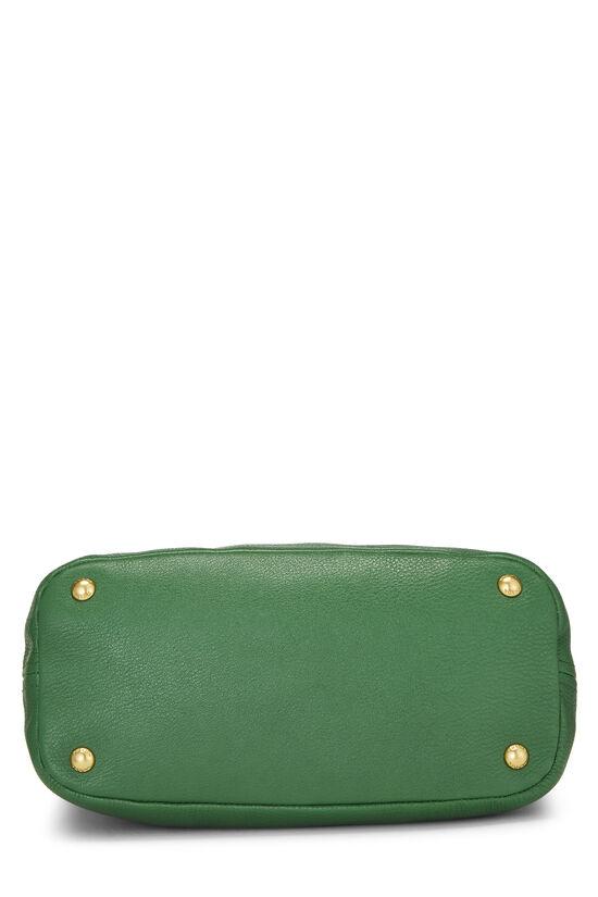 Green Vitello Daino Shoulder Bag, , large image number 5