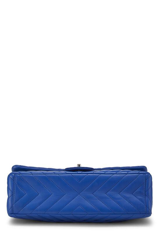 Blue Chevron Lambskin Full Flap Maxi, , large image number 4