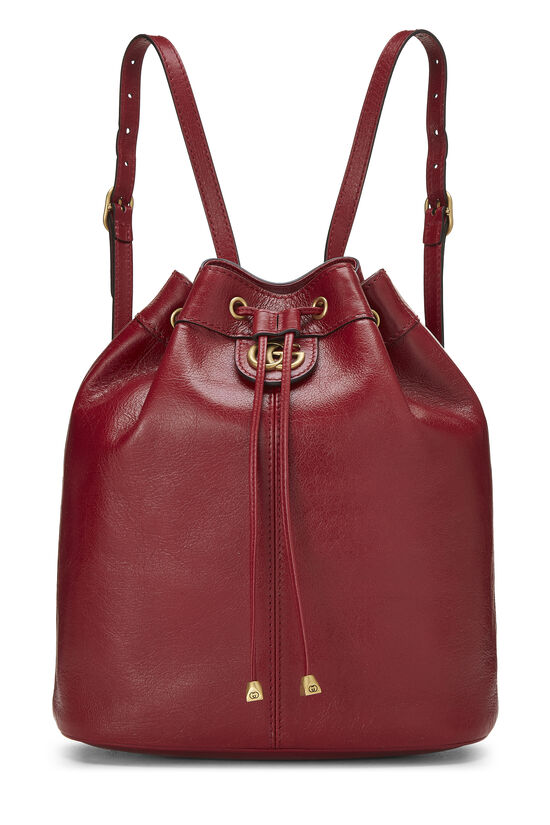 Red Leather (RE)BELLE Convertible Bucket Bag, , large image number 0