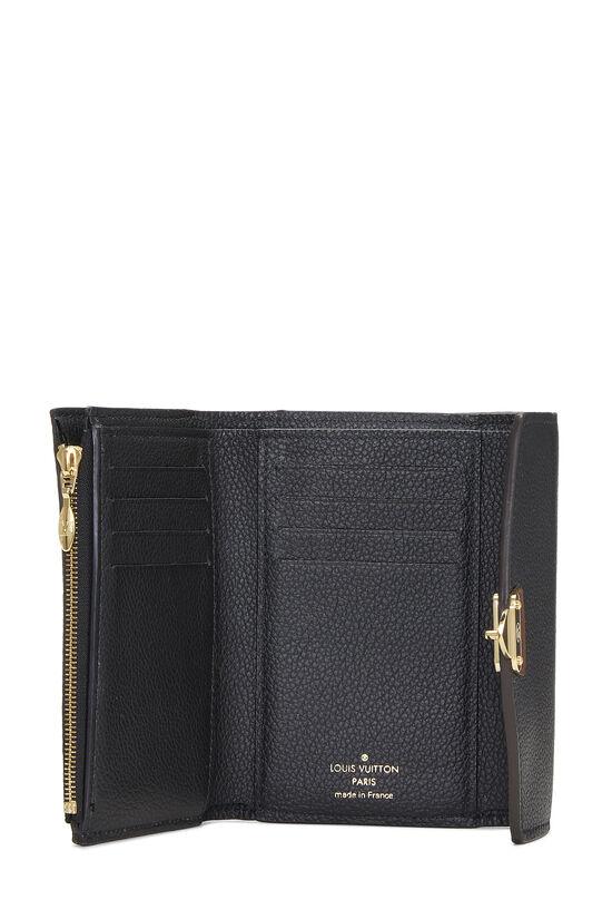 Black Monogram Canvas Pallas Compact Wallet NM, , large image number 3