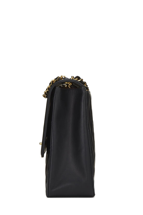 Black Quilted Lambskin 'CC' Flap Maxi, , large image number 2