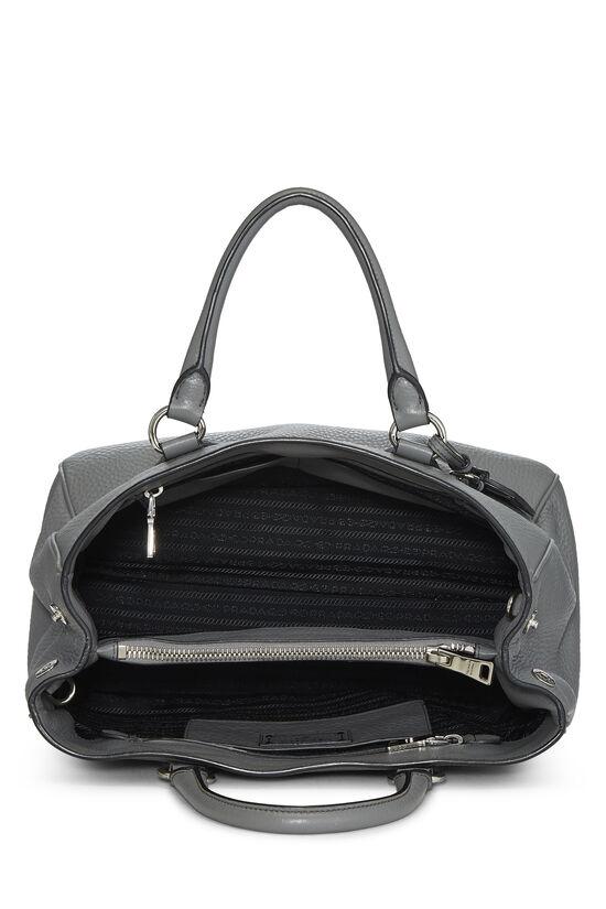 Grey Vitello Daino Handbag, , large image number 5