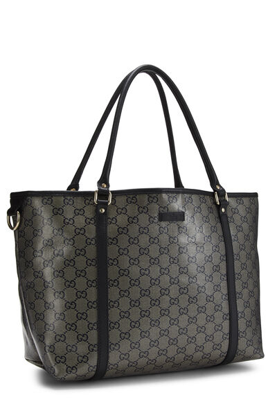 Navy GG Crystal Canvas Joy Tote, , large