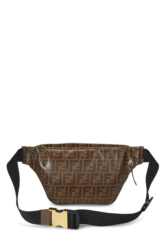 Fendi x Fila Brown Coated Zucca Spalmati Mania Belt Bag, , large image number 3
