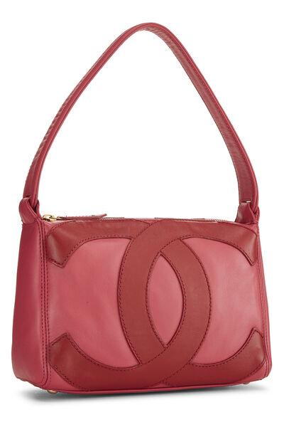 Pink Lambskin 'CC' Shoulder Bag, , large