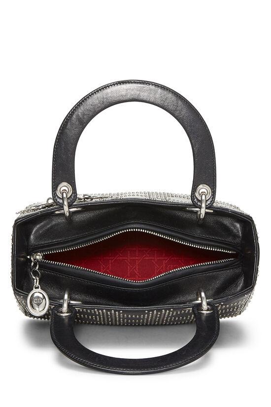 Black Cannage Studded Lambskin Lady Dior Medium, , large image number 6