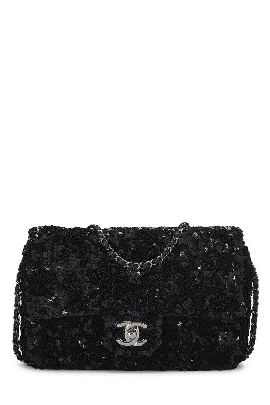 Black Sequin Half Flap Mini, , large image number 0