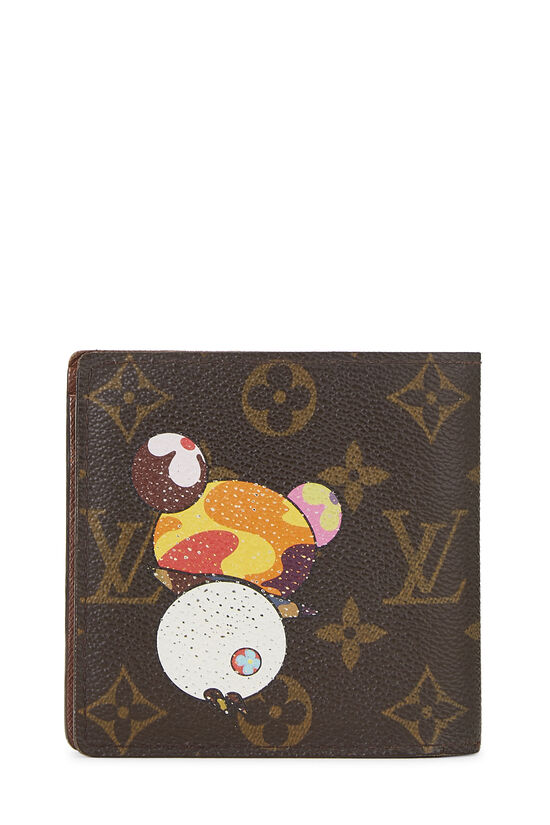 Takashi Murakami x Louis Vuitton Monogram Canvas Panda Marco Wallet, , large image number 2