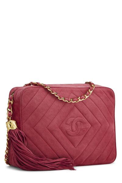 Pink Suede Diamond CC Camera Bag Medium, , large