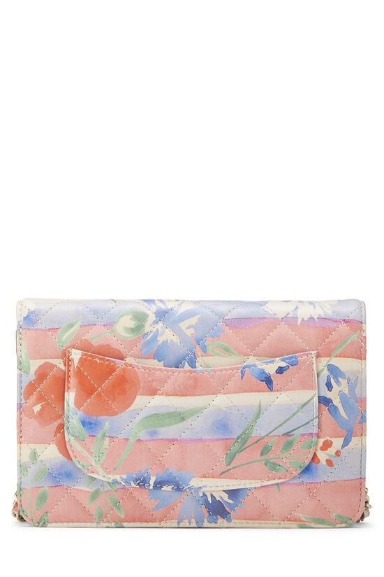 Multicolor Floral Quilted Lambskin Wallet on Chain (WOC), , large image number 3