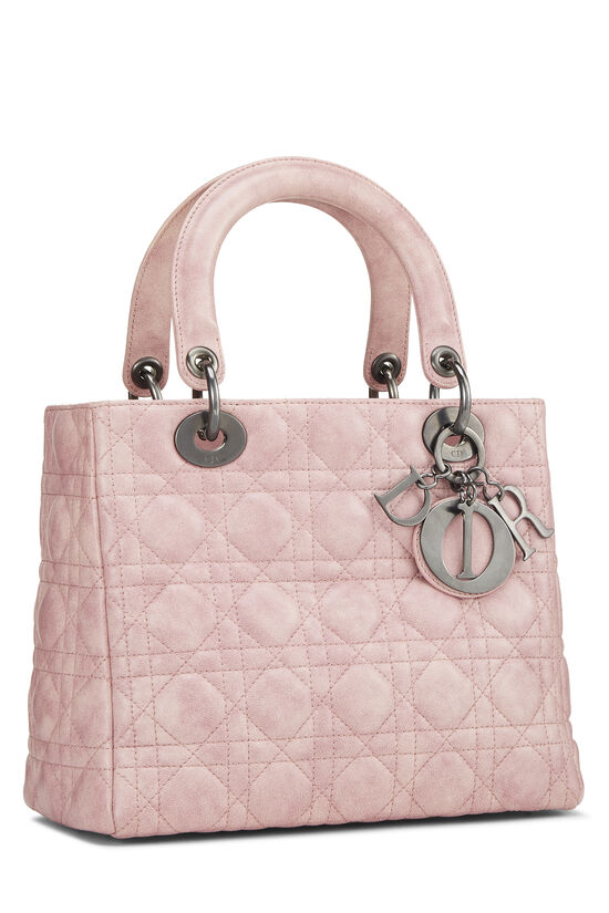 Pink Cannage Quilted Lambskin Lady Dior Medium, , large image number 1