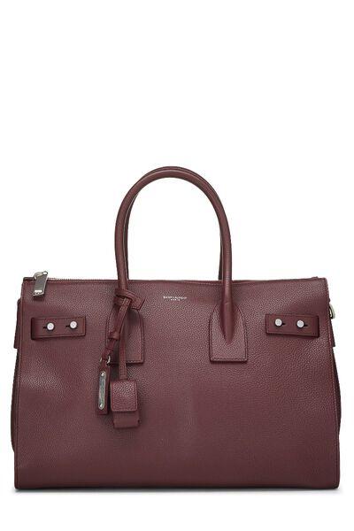 Burgundy Leather Sac De Jour Small