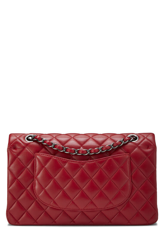 Red Quilted Lambskin Classic Double Flap Medium, , large image number 3