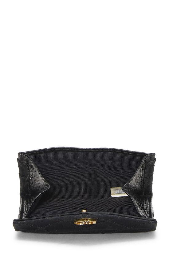 Black Quilted Satin Card Holder, , large image number 3