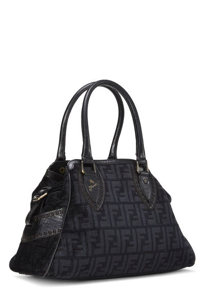Black Zucca Velour Bag Du Jour Small, , large