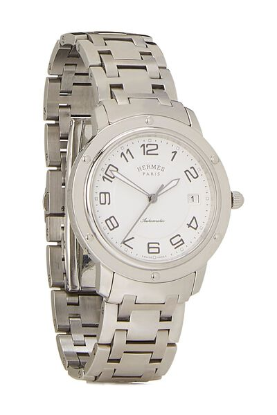 White & Stainless Steel Clipper Watch GM