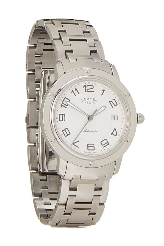 White & Stainless Steel Clipper Watch GM, , large image number 0