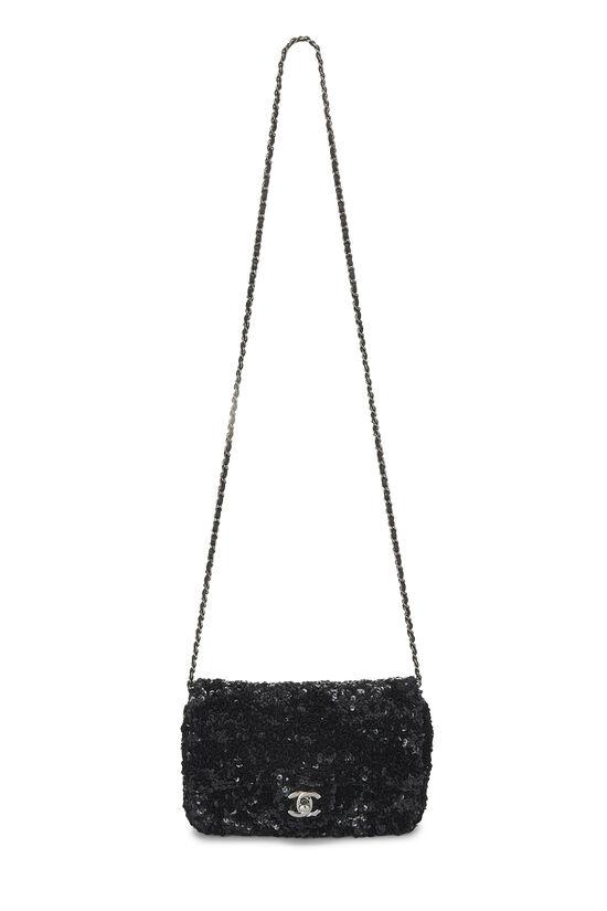 Black Sequin Half Flap Mini, , large image number 1