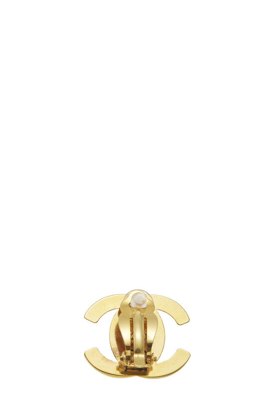 Gold 'CC' Turnlock Earrings Large, , large image number 1