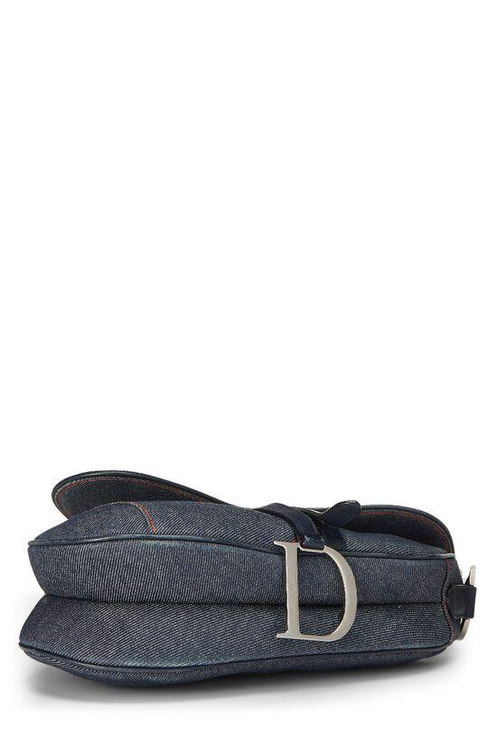 Blue Denim Embellished Saddle Bag, , large image number 4