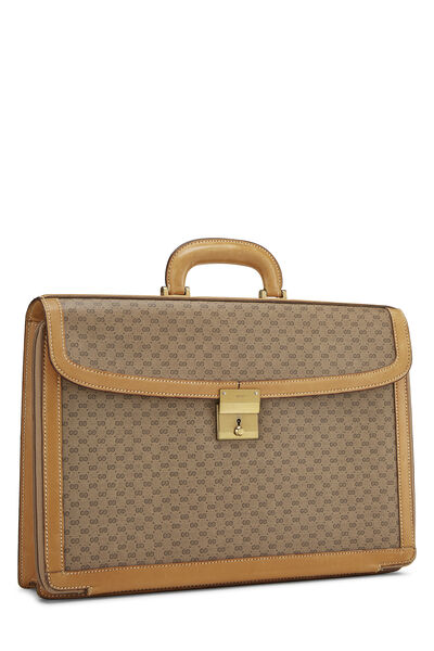 Beige GG Coated Canvas Briefcase, , large