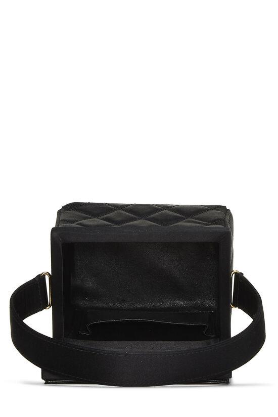 Black Quilted Satin Box Vanity Mini, , large image number 5