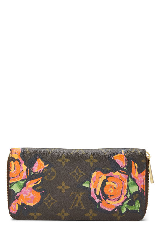 Stephen Sprouse x Louis Vuitton Monogram Roses Zippy Wallet, , large image number 2