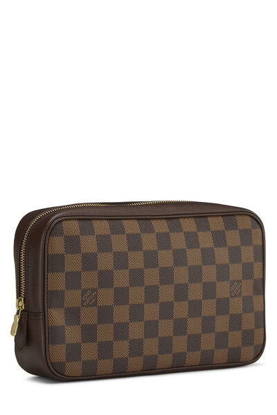 Damier Ebene Toiletry Pouch, , large