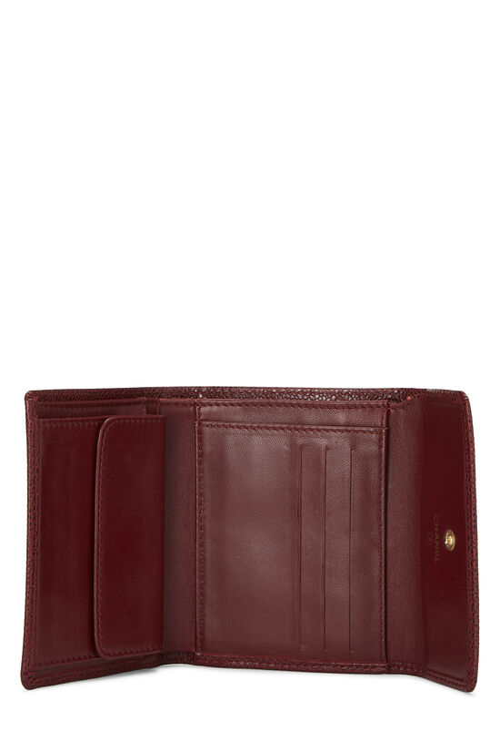 Burgundy Caviar CC Compact Wallet, , large image number 3
