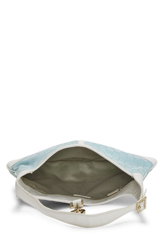 White & Blue GG Canvas Jackie Shoulder Bag Small, , large image number 5