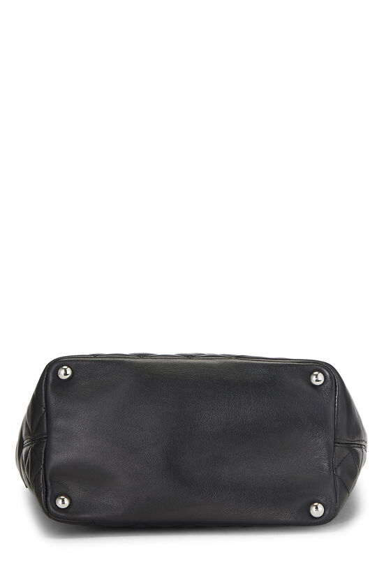Black Quilted Calfskin Cambon Tote Small, , large image number 4