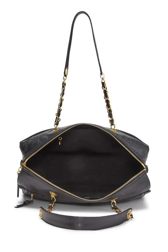 Black Caviar Zip Tote Small, , large image number 5