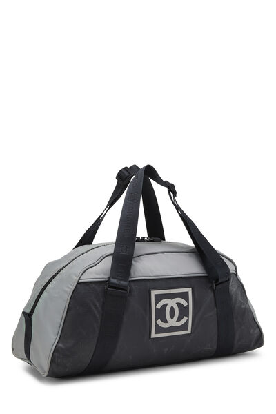 Black & Grey Nylon Sportline Duffle, , large