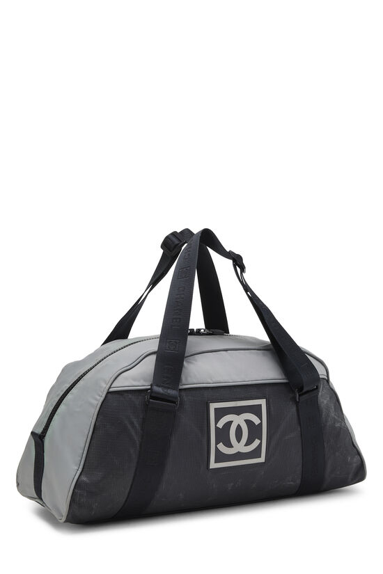 Black & Grey Nylon Sportline Duffle, , large image number 1