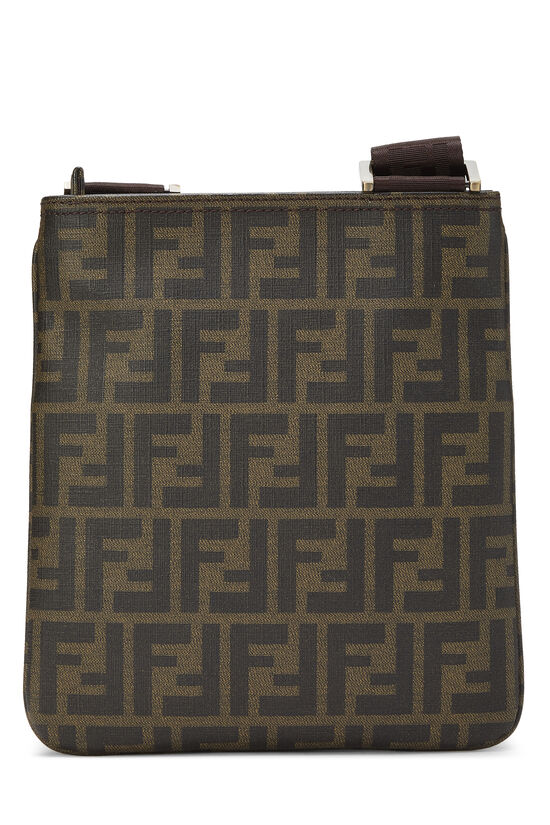 Brown Zucca Coated Canvas Messenger, , large image number 3