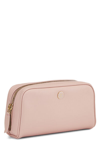 Pink Calfskin Cosmetic Pouch Mini, , large
